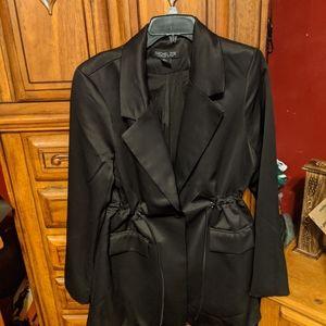 Rachel Zoe Satin tie waist jacket